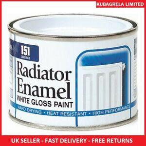 RADIATOR WHITE ENAMEL GLOSS PAINT - 180ml Radiator pipes tough long lasting home