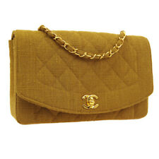 CHANEL Diana Quilted CC Single Chain Shoulder Bag 2725535 Brown Canvas A47339