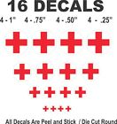 Tootsietoy Midgetoy Ambulance Decals Red Cross on Round Surface Scale Models