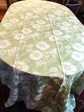 coupon de Toile à matelas ancienne 4m x 1m50 motifs de fleurs de pavots