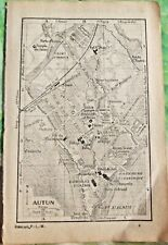 1930 the guide of the old town Autun Department 71 old map art print