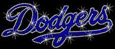 LA Los Angeles Dodgers Baseball Hotfix Iron On Rhinestone Shirt Transfer