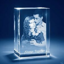 Laser Engraved 3D Crystal Personalized Engrave Gift X-Large Tower Shape