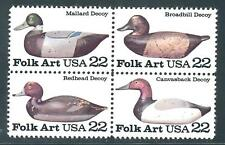USA - MNH BL 4  22c Duck Decoys ....... .........#2138 - 2141