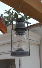 Vintage style grey miners / hurricane tea light lamp