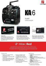 Radio+Ricevente 2.4 GHz. 6 canali della HiTec Red