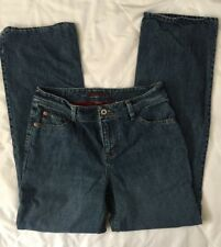 Eddie Bauer Flannel Lined Womans Jeans Size 6 Straight Leg Stretch #484