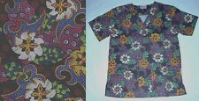 NEW Scrubs * Print Scrub Top * XS * Colorful Abstract