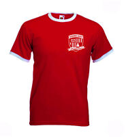 Stoke City FC. The Potters. Retro Football Club Shield Tshirt.