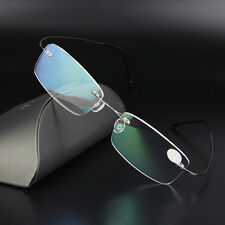 Herren Lesebrille Optische Brille Memory Titan Brillengestell Randlos