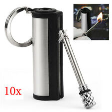10pcs 15000 Times Metal Cigar Cigarette Key Ring Ignite Flame Match Box Lighter