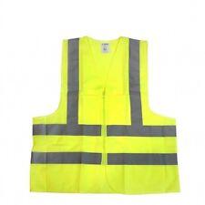 High visibility W/ Pockets Neon Green Safety Vest Reflective Strips ANSI XXL