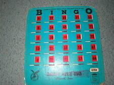 Vintage Red Fingertip Bingo Card King Shutter Slide Eagles FOE Aerie Grinnell IA
