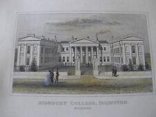 3 Engravings / Prints of Highbury College, Islington, Coloured