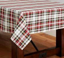 Pottery Barn Denver Plaid Tablecloth 70 x 108 Holidays Christmas