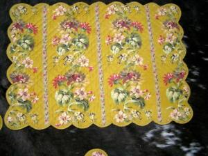 French Country from FRANCE Yellow Shabby Country Placemats Lot of 4