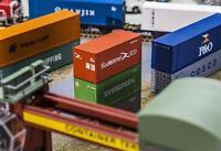 Faller 180822 HO 20' Container HAMBURG SÜD #NEU in OVP#