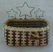 Basket Weaving Pattern Star Spangled Recipe Card Basket by Julie Kleinrath