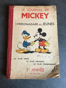 JOURNAL DE MICKEY 3 éme année N° 105 à 156  Album N° 3  1936   Reliure AVG