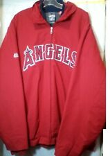 Majestic MLB Los Angeles Angels Jacket Size 2XL Authentic Zip Front Therma Base