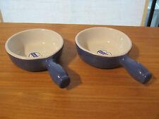 EMILE HENRY *NEW* Pervenche Bleu Set 2 caquelons 10cm (avec petit défaut)