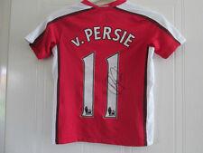 Robin Van Persie Firmado Arsenal Home Football Shirt Con Coa / 35657