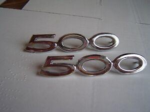 1968 69 FAIRLANE RANCHERO 500 SIDE QUARTER PANEL EMBLEMS NOS TRIM FORD PAIR 70 ?