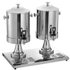Hubert 2 2 Gal Stainless Steel Double Milk Dispenser 23l X 14 18w X 21h