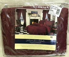 JC Penney Classic Traditions Burgundy Ruffled Bedskirt Bed Skirt Twin Size New
