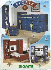 Chambre Ado- GAMI- modèle Régate Bleu; Lit, Commode , Bureau, Armoire 1P