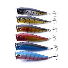 6PCS/Lot 9cm/14g жесткой приманки рыбалка верхней воды бас приманка Поппер приманка воблер