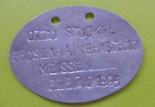 Dog Tag Otto Meissen Aluminium
