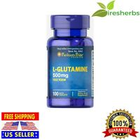 L-GLUTAMINE FREE FORM 500 MG MUSCLE BOOSTER PILLS AMINO ACID SUPPLEMENT 100 TABS