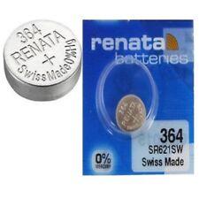 Renata Watch BatteriesX2 Swiss Made Cell Button Sil-Oxide 1.55v-364 SR621SW AG-1