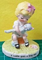 VTG 1974 JOSEF ORIGINALS GEORGE GOOD CORP -A CUDDLE GOES A LONG WAY- FIGURINE