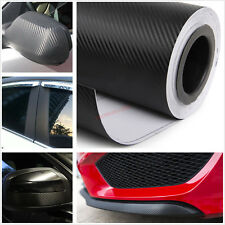400 x 20cm 3D BLACK Carbon Fiber Vinyl Film Sheet Car Sticker Phone Laptop Wrap