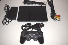 Playstation 2 PS2 Slim Black Sony Console Video Game System Complete SCPH-75001