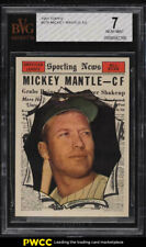 1961 Topps Mickey Mantle ALL-STAR #578 BVG 7 NRMT