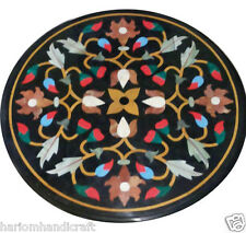 Size 2'x2' Marble Side Coffee Center Table Top Inlay Marquetry Mosaic Decor H984