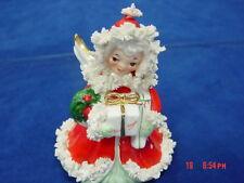 Vintage Napco Porcelain Christmas Spaghetti Angel Blessings Joy S116A