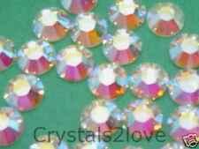 30ss CRYSTAL AB HOTFIX Swarovski Rhinestones 36 Pcs