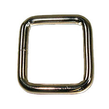 """Square - Welded Nickel Plated 1.25"""" x 1.5"""" (6mm)"""