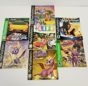 Lot of 7 Sony Playstation 1 PS1 Manuals Only - Spyro the Dragon, Ripto's Rage