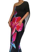 Ladies Maxi Dress Kaftan Bodycon Boho Summer One Shoulder Size 10 12 14 16