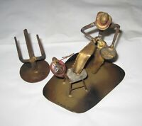 Cowboy Lasso Chair Cactus Metal Sculpture West Signed Ron Dirlam '74
