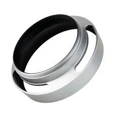 52mm Aluminium Silver Lens Cover Oblique Internal thread Hood For Leica Slr