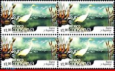 2407-Q MEXICO 2005 CONSERVATION, LAKES AND LAGOONS, BIRDS, (1.00P), BLOCK MNH