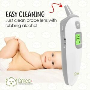 Baby Thermometer - Forehead and Ear Thermometer for Fever by DrKea
