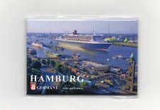 Magnet HAMBURG Hafen Queen Mary 2 Kühlschrankmagnet Pinnwand Souvenir NEU