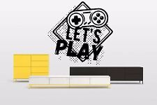 Joysticks Gamepad Wall Decal Video Play Boy Room Vinyl Sticker Decor Mural F2407
